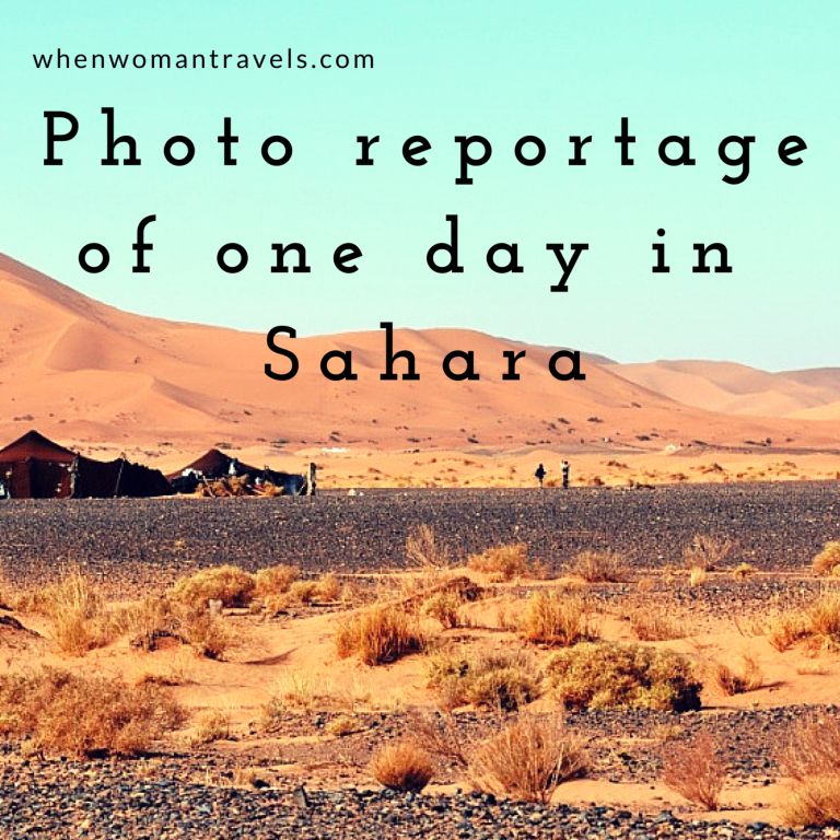 Photo reportage of one day inSahara