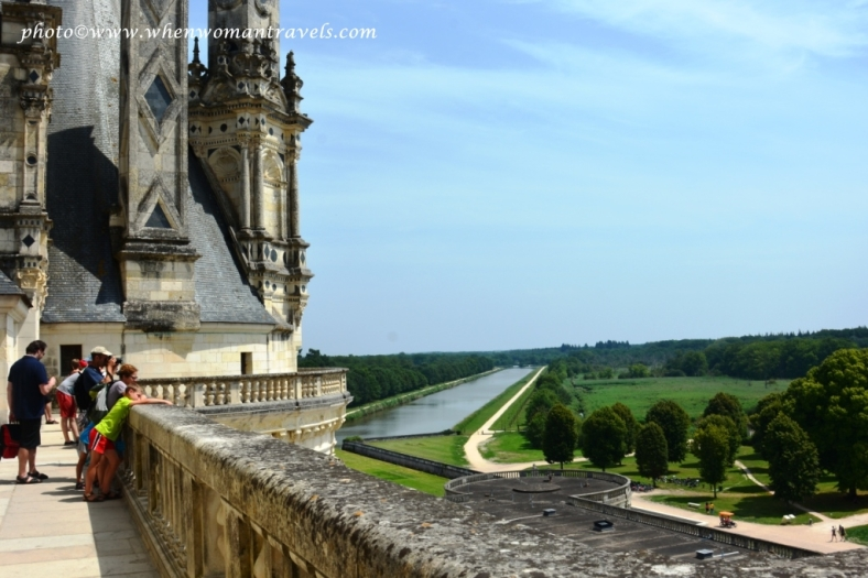 the terrace of Chambord castle Loire River France