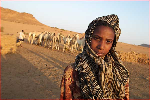 Young nomadic girl
