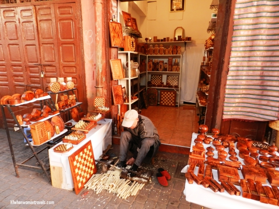 Shop for Chess board in medina of Marrakech
