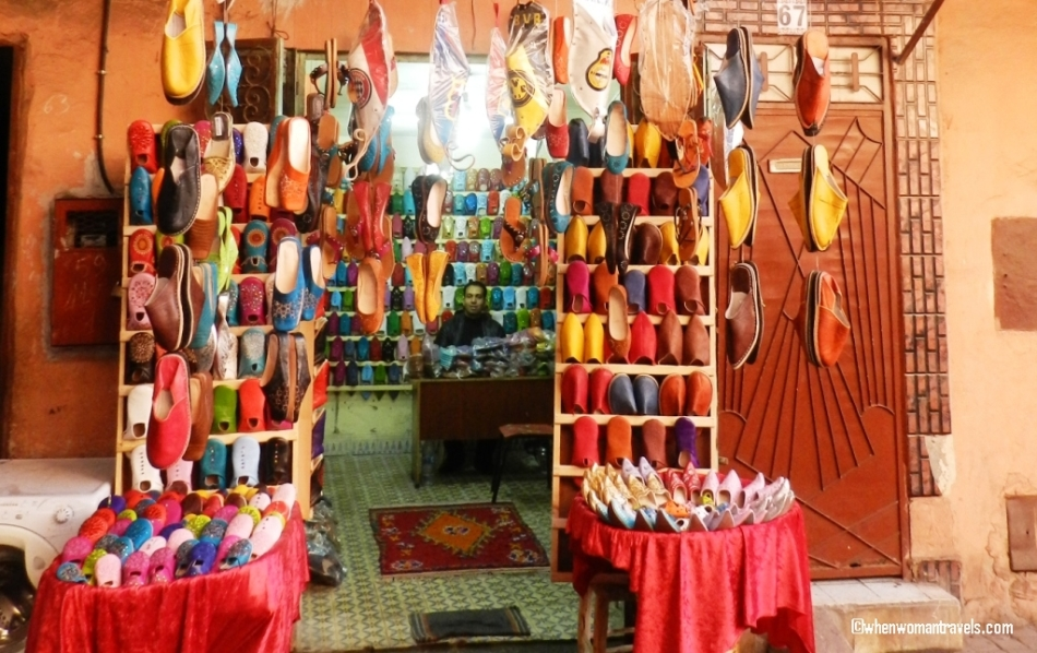 Baboosh shop-Marrakech medina