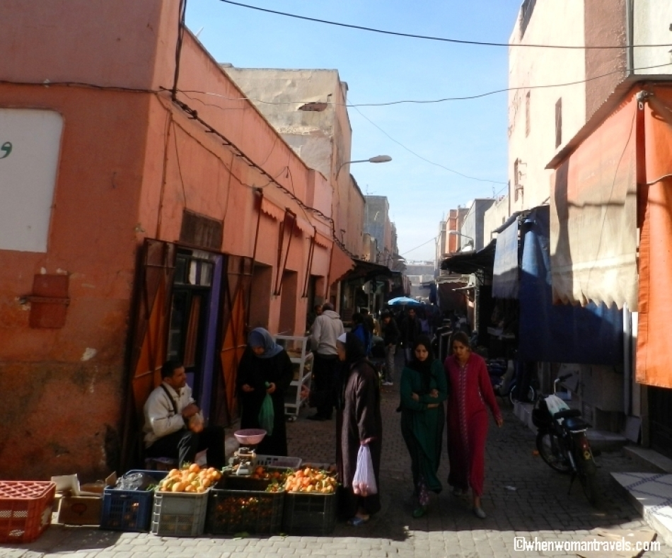 Walking on the streets of Medina Marrakech
