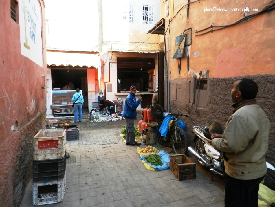 Buy fresh vegetables at medina Marrakech