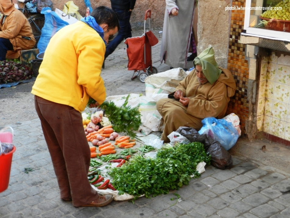 Fresh food in the medina of Marrakech