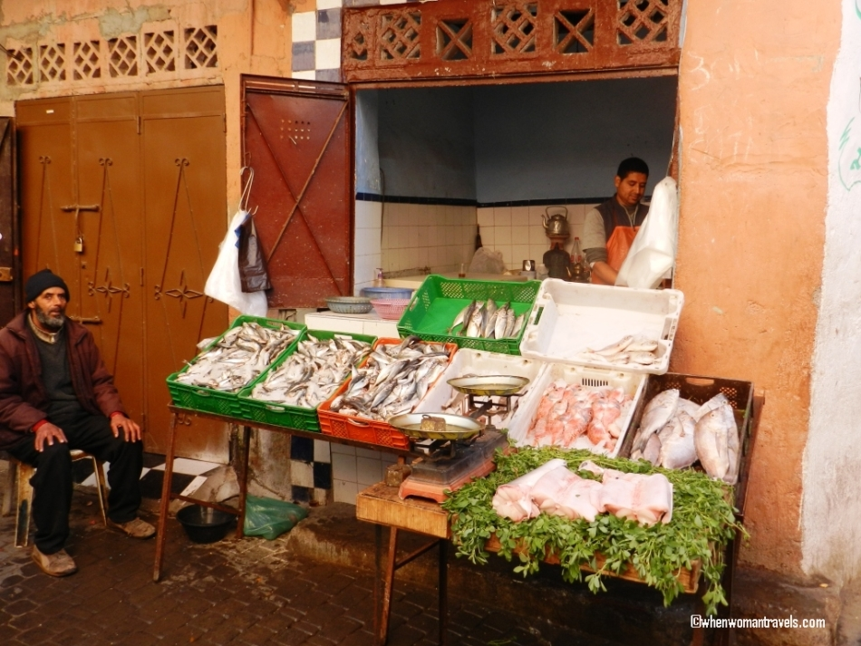 Fish selling in Medina Mrrakech