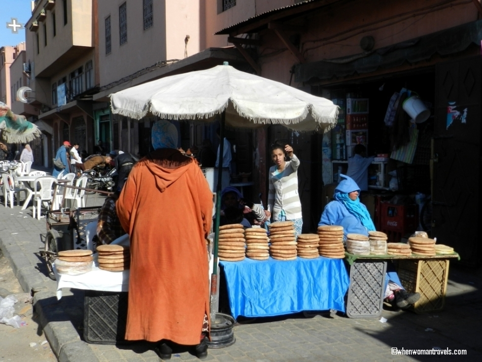 Medina of Marrakech-bread sellers
