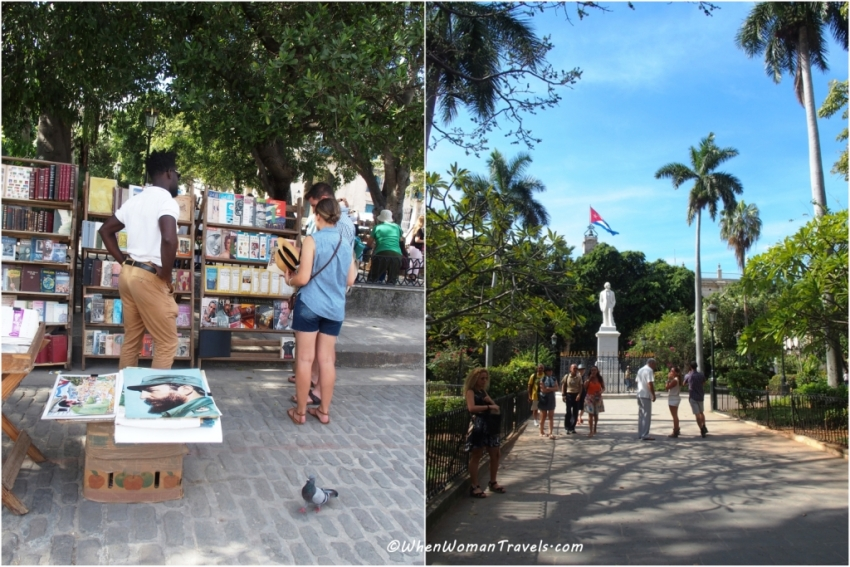 Antigue market at Plaza de Armas in Havana